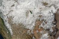 Snowstorm covers Western United States