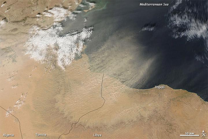Dust off Tunisia and Libya