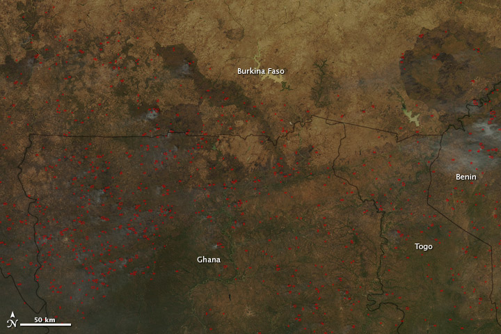 Widespread Fires in West Africa