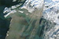 Dust over the Gulf of Alaska