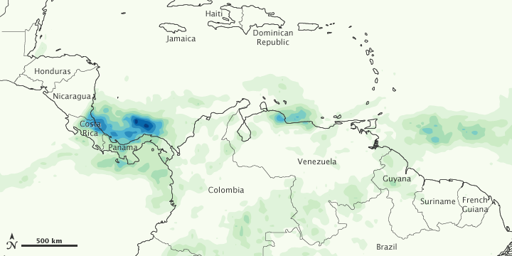 Heavy Rains in Central and South America