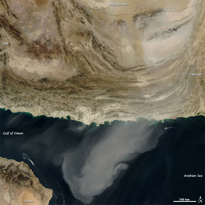 Dust Storm over Southwest Asia
