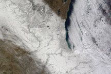 Snow Storm across the U.S. Midwest