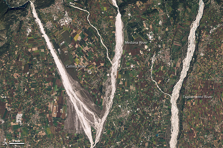 Gravel Rivers in Northeastern Italy