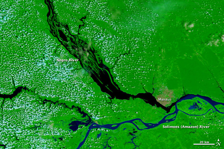 Brazil's Negro River Reaches Record Low