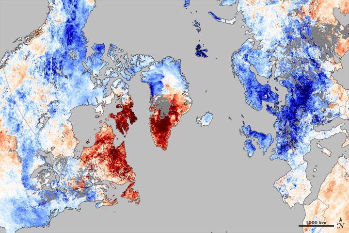 Arctic Oscillation Chills US and Europe