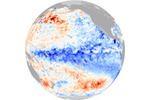 Strong La Niña in December 2010 - selected image