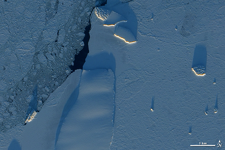 Icebergs along Princess Ragnhild Coast, Antarctica