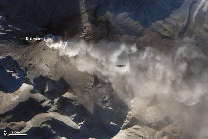 Activity at Kizimen Volcano