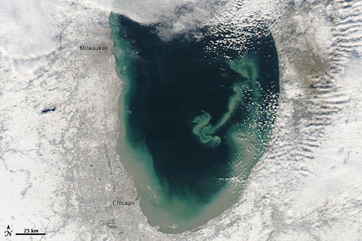 Sediment Transforms Lake Michigan