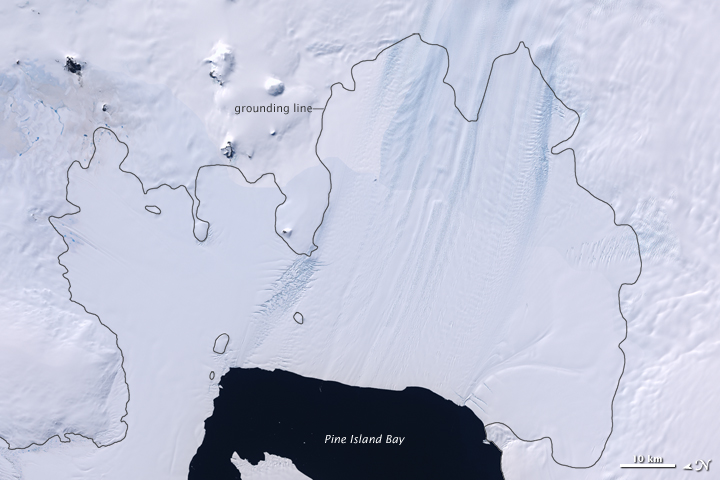 Channel Beneath Pine Island Glacier