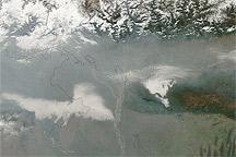 Haze over India and Bangladesh