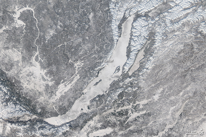 Ice Covers Lake Baikal - related image preview