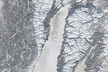 Ice Covers Lake Baikal