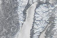 Ice Covers Lake Baikal