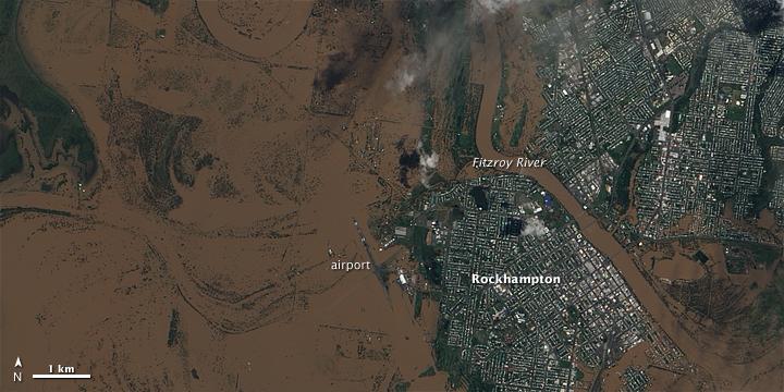 Receding Flood Waters around Rockhampton, Queensland