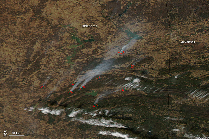 Fires in Oklahoma