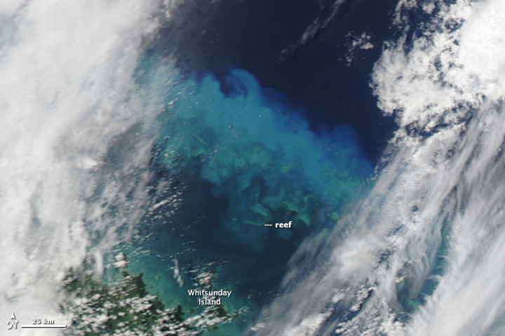 Sediment over the Great Barrier Reef