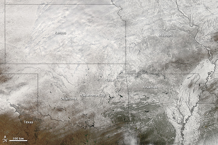 Snow in Southern U.S.