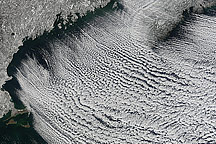 Winter Cloud Streets, North Atlantic