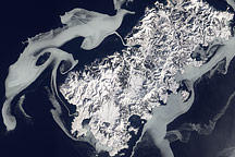 Sea Ice Surrounds Shikotan