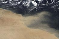 Dust Plumes off Libya and Egypt