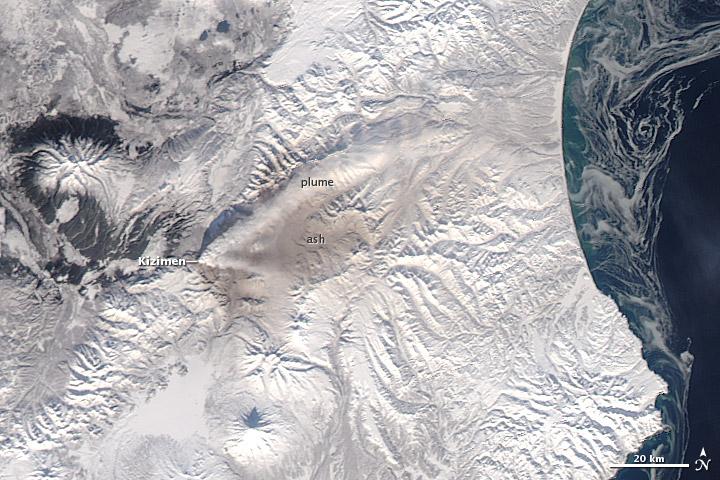 Activity at Kizimen Volcano