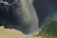 Dust Plume over the Mediterranean Sea