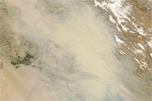 Dust Storm in Iraq and Iran