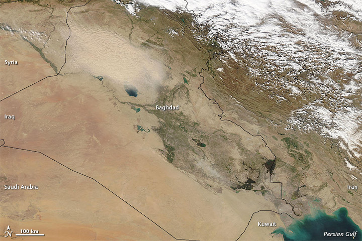 Dust Travels from Iraq to Iran