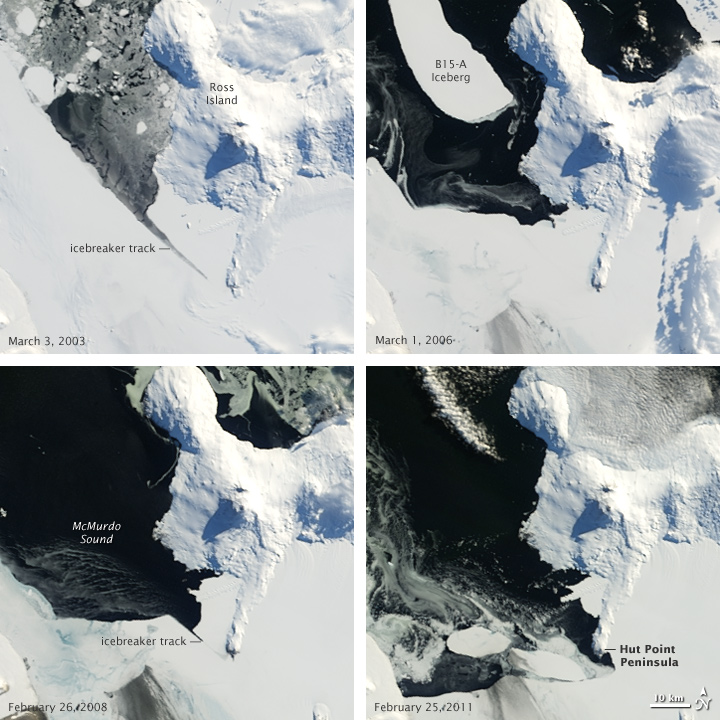 Sea Ice in McMurdo Sound, Antarctica