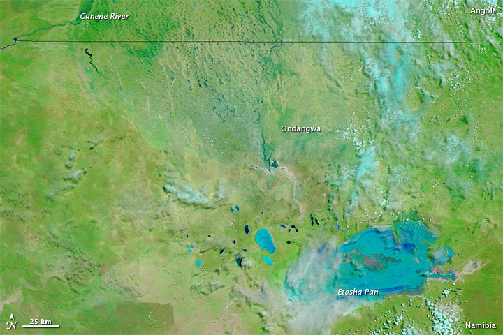 Flooding in Angola and Namibia