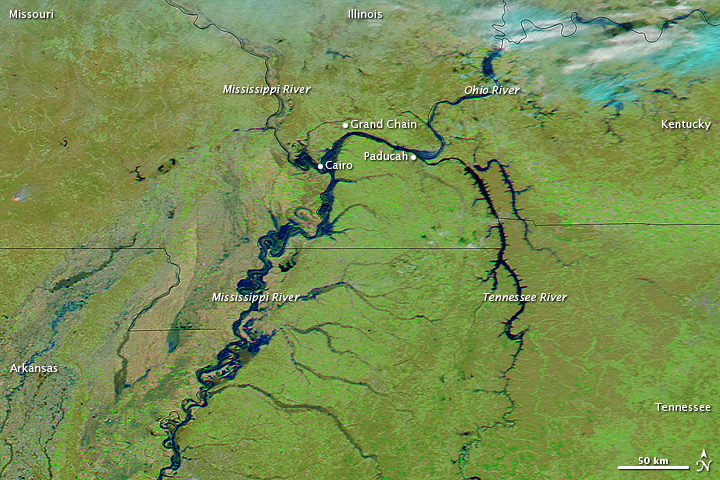 High Waters along the Ohio and Mississippi Rivers