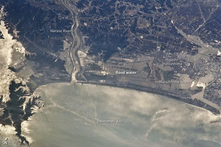 Tsunami Damage Viewed for the Space Station