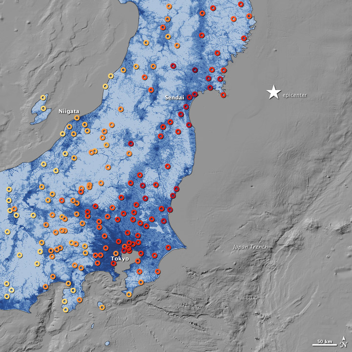 japan and tohoku earthquake Earthquake information:  may be slight sea-level changes in coastal regions/ this earthquake has caused no damage to japan  japan meteorological agency,.