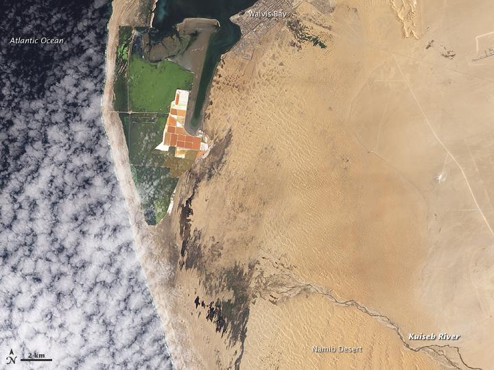 Kuiseb River Nears the Ocean