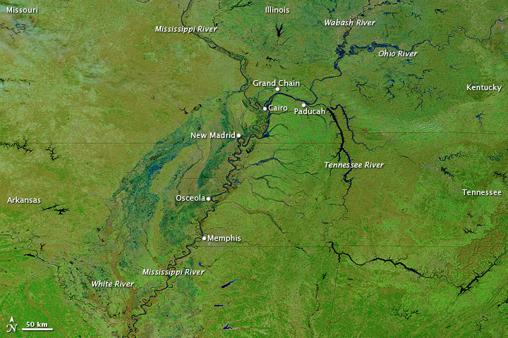 Rising Waters on the Mississippi River