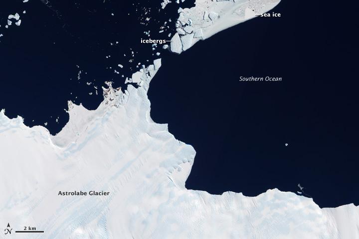 Astrolabe Glacier and Unbalanced Ice