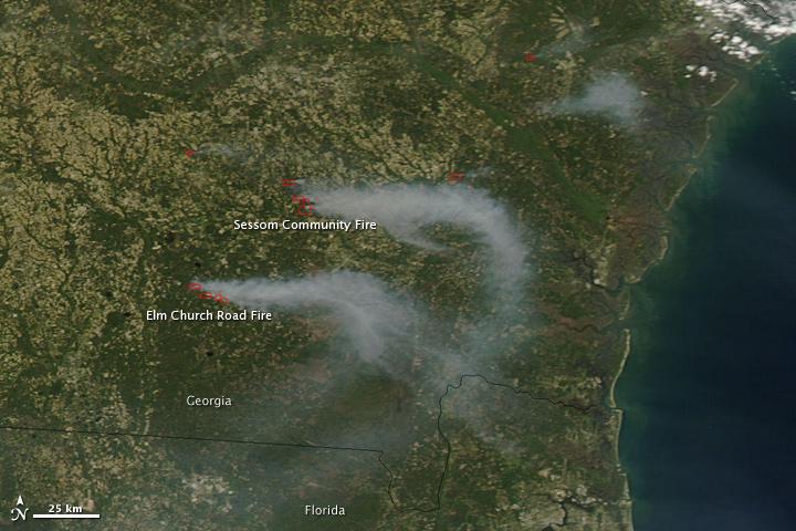 Map Of Georgia Fire.Fires In Georgia