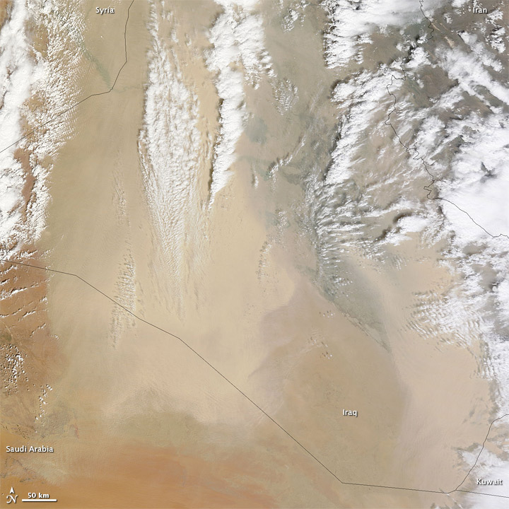 Dust Storm over Iraq