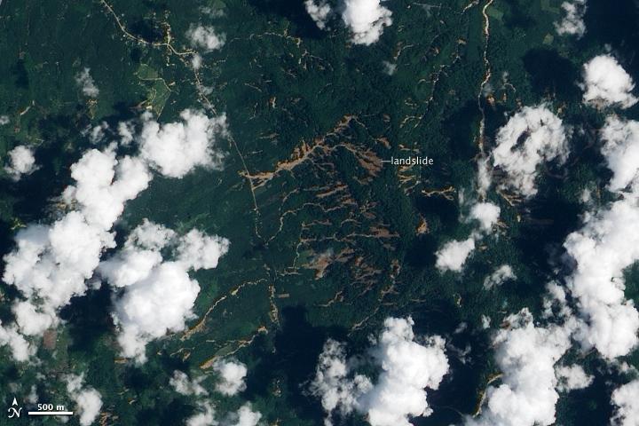 Heavy Rain Triggers Landslides in Thailand