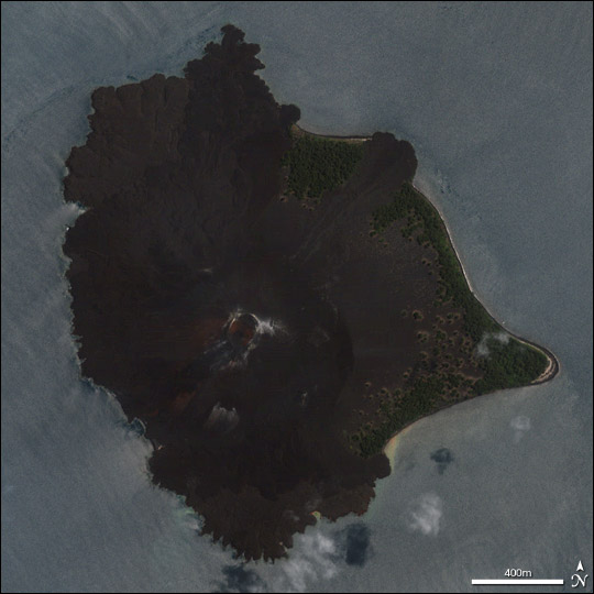 Closeup of Anak Krakatau
