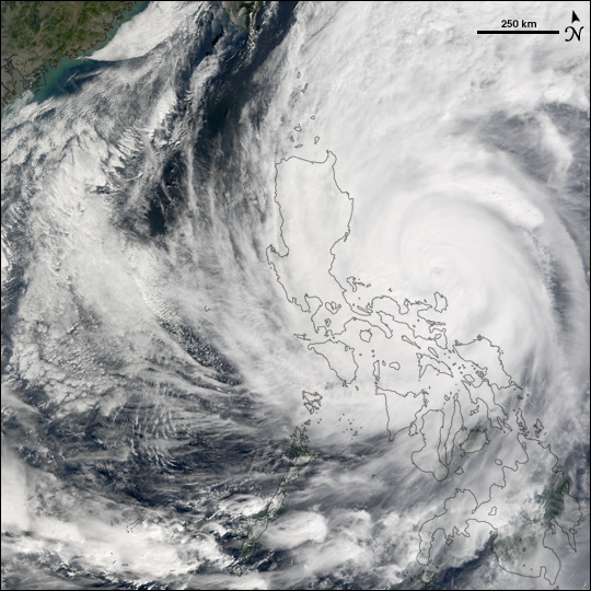 Typhoon Nanmadol strikes the Philippines