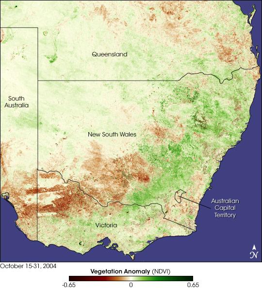 Dry Spring in Eastern Australia