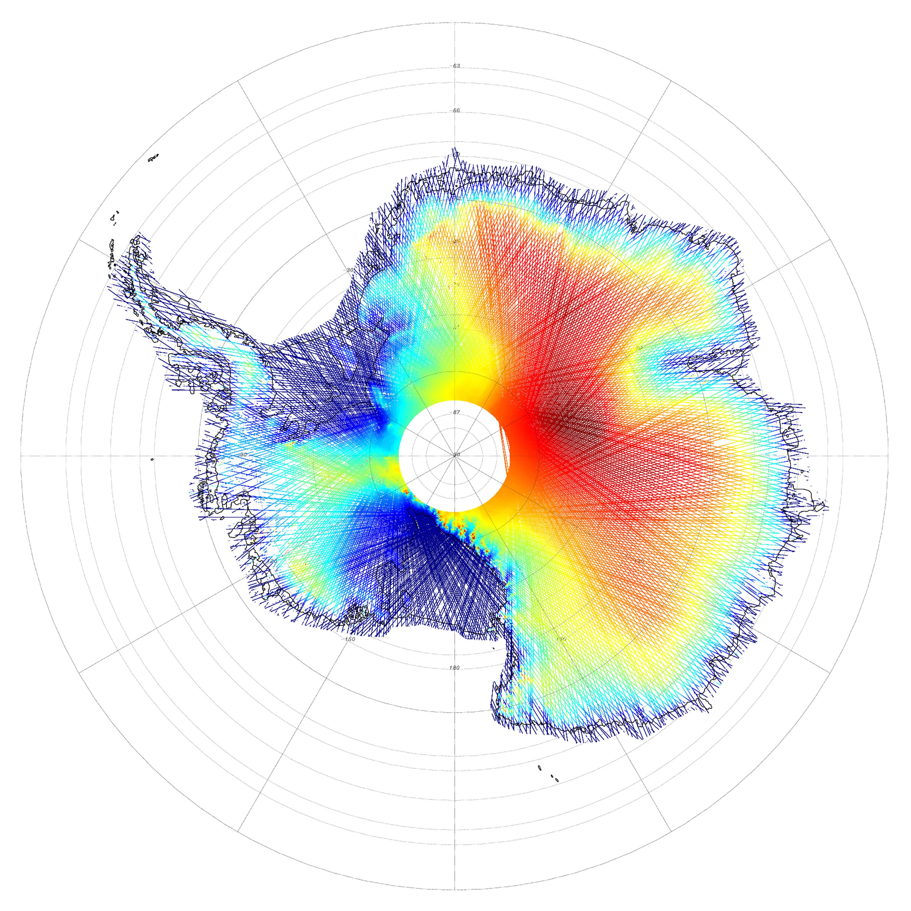 Antarcticas Land and Ice Elevation Image of the Day