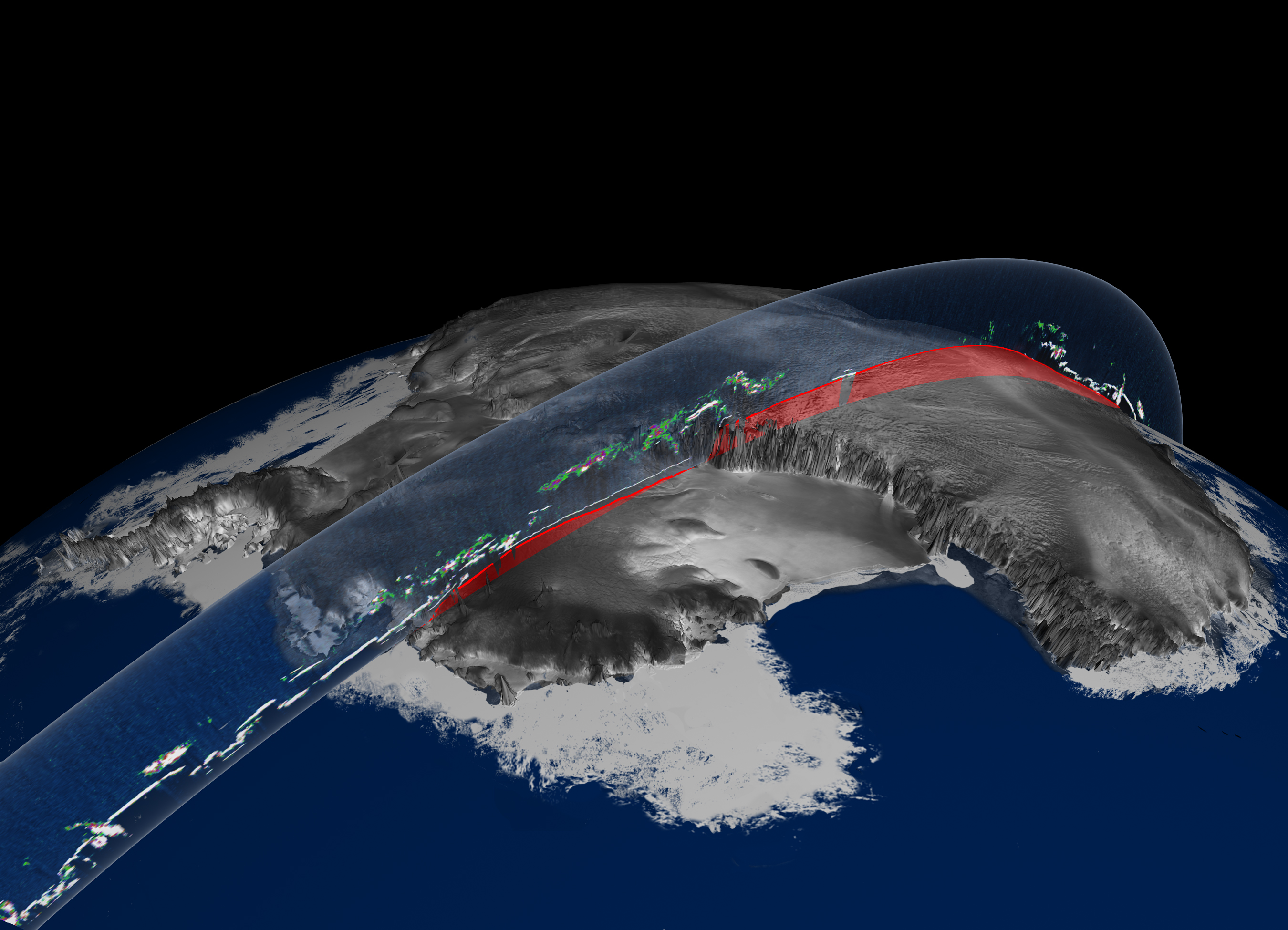Antarcticas Land And Ice Elevation Image Of The Day - Satellite map of antarctica