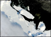 B-15A Iceberg Blocks McMurdo Sound