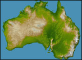 Australia, Shaded Relief and Colored Height