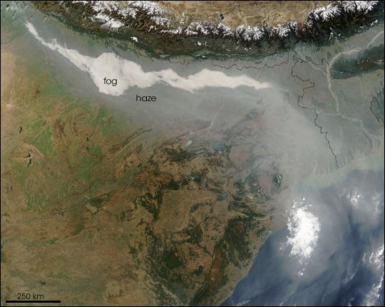 Haze and Smog over India