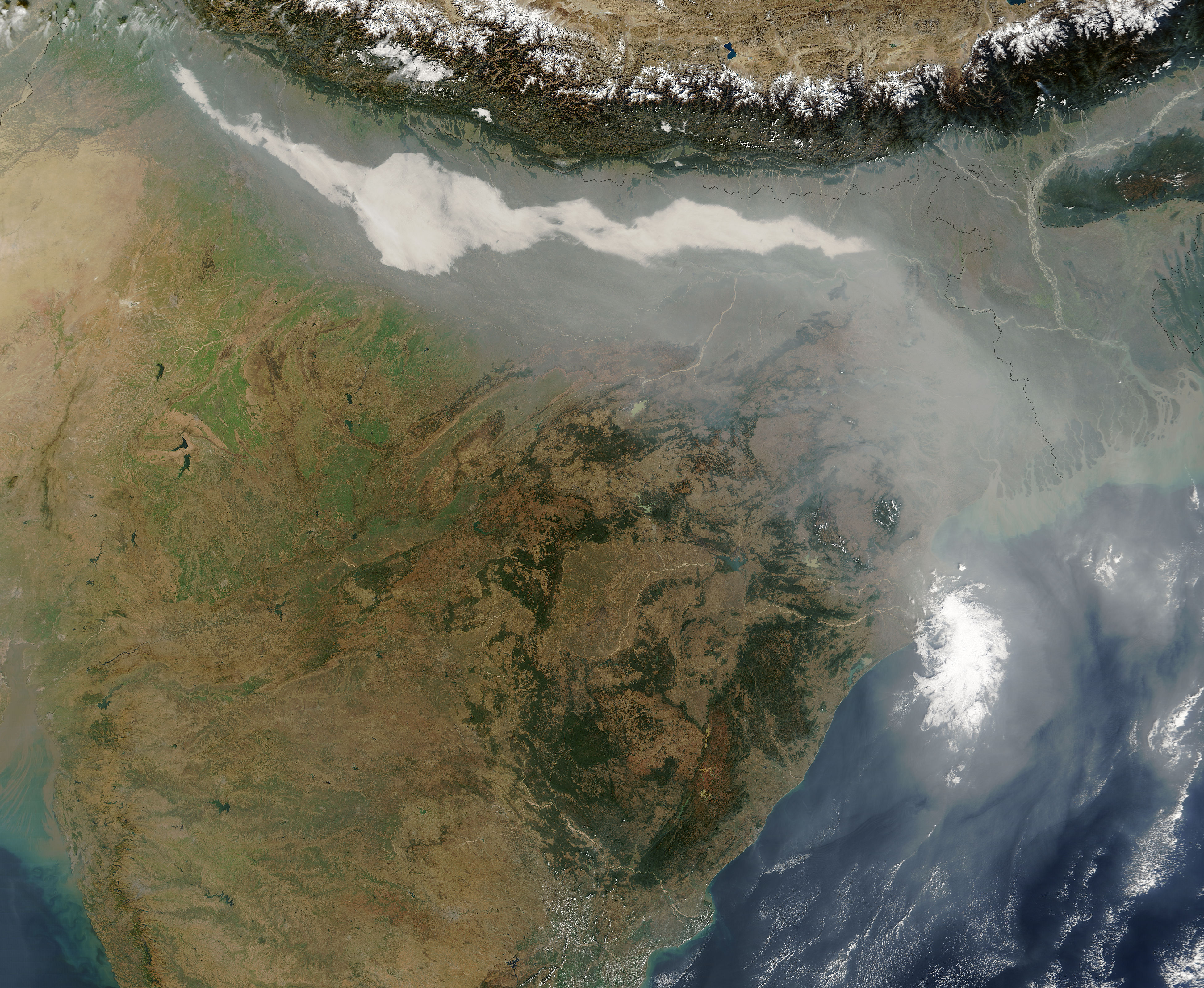 Haze And Smog Over India Image Of The Day